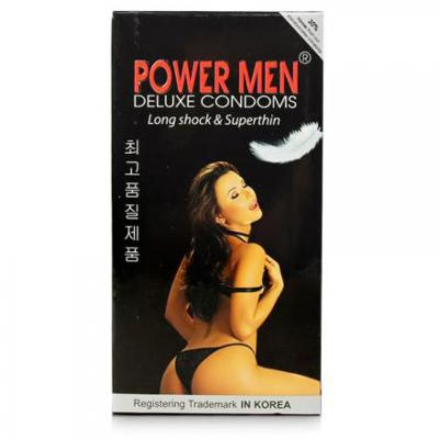 Phân phối Hộp Bao cao su Power Men Long Shock and Super Thin